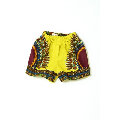 Fluro African Print Shorts - Image 1