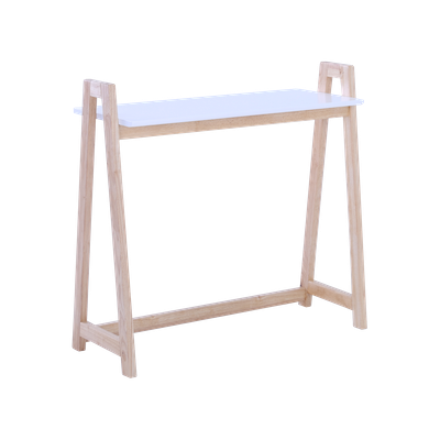Verlin Console Table - White, Natural - Image 1