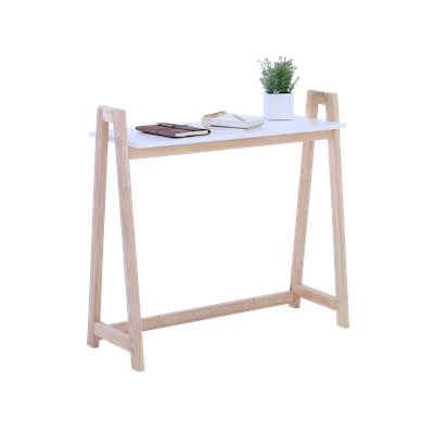 Verlin Console Table - White, Natural - Image 2