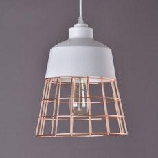 Minimalist Cage Pendant Lamp - Copper