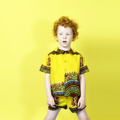 Fluro African Print Shorts - Image 2