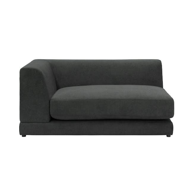 Abby L-Shaped Lounge Sofa - Granite - 6
