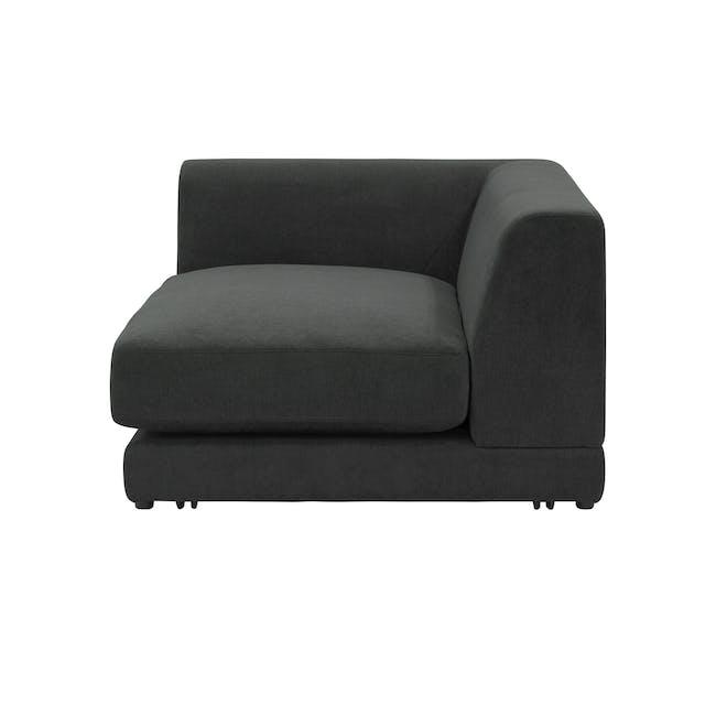 Abby L-Shaped Lounge Sofa - Granite - 8