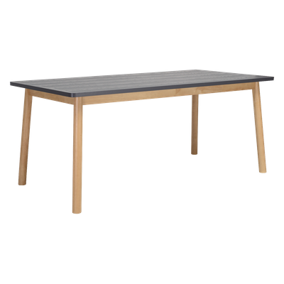 Kendall Dining Table 1.8m - Natural, Graphite Grey - Image 1