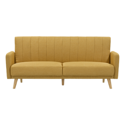 (As-is) Charlotte Sofa Bed - Mustard - 1 - Image 1