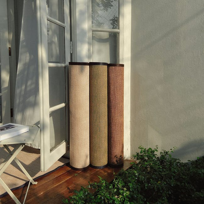 Natural Large Reversible Mat 2.7m x 1.8m - Bamboo Green - 4