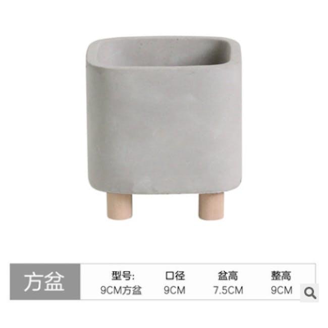 Mona Square Concrete Planter with Legs - Small - 2