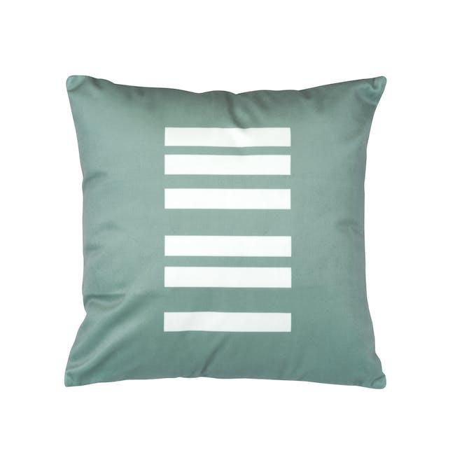 Linion Plush Cushion - Turquoise - 0
