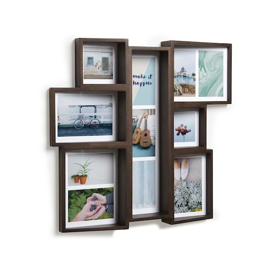 Umbra - Edge Multi Wall Photo Display - Aged Walnut