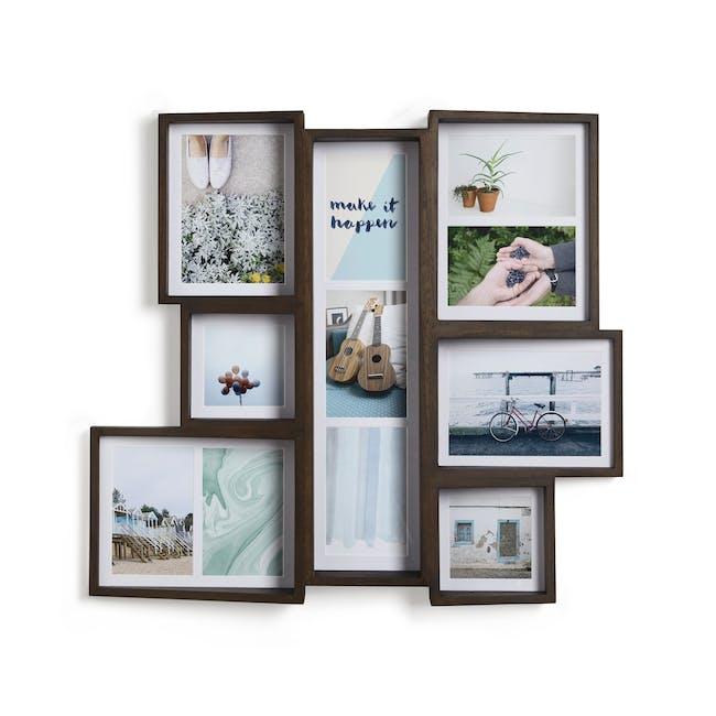 Edge Multi Wall Photo Display - Aged Walnut - 2