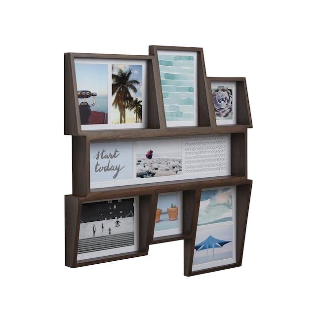 Edge Multi Wall Photo Display - Aged Walnut - 0