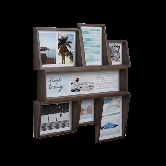 Edge Multi Wall Photo Display - Aged Walnut - Image 1