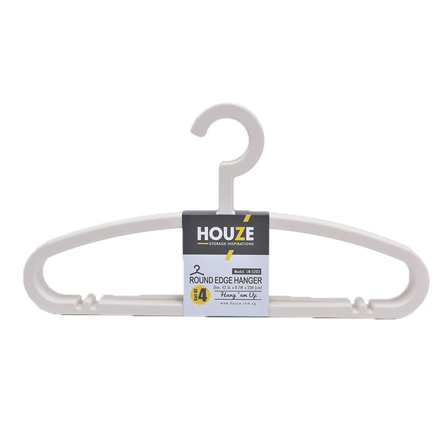 HOUZE Round Edge Hanger (Set of 4) - Bottega White - 0