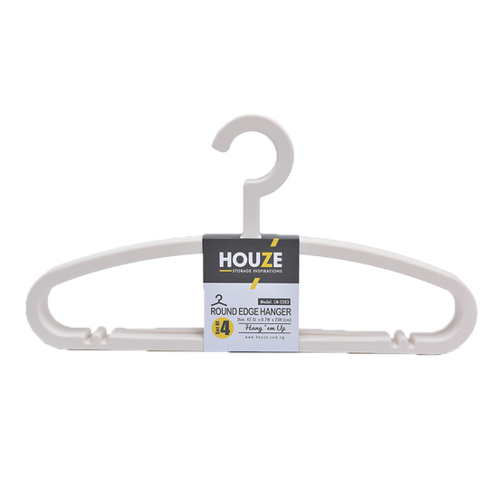 Houze - HOUZE Round Edge Hanger (Set of 4) - Bottega White