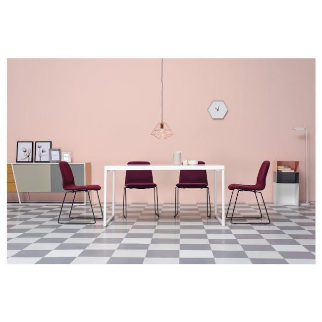 Bianca Dining Chair - Matt Black, Emerald - 1