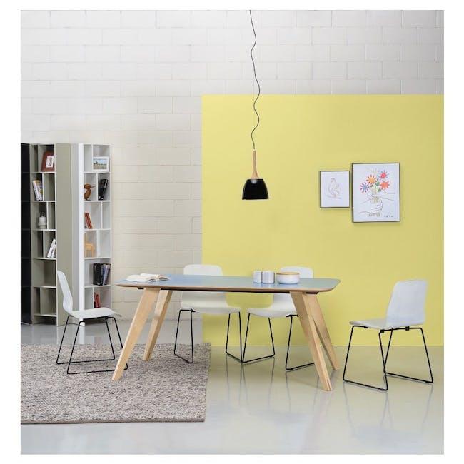 Bianca Dining Chair - Matt Black, Emerald - 4