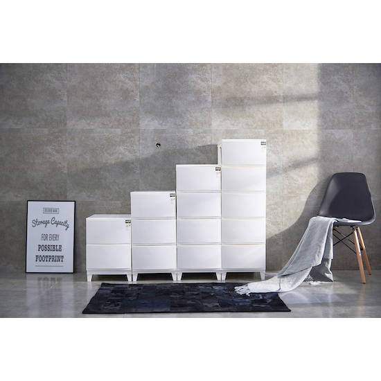 Houze - 4-Tier 'Knock Down' Compact Cabinet