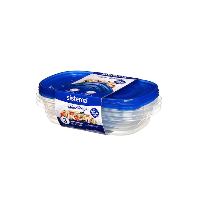Sistema TakeAlongs 950ml Rectangle Container (Pack of 3) - 0