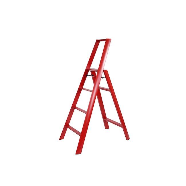 Hasegawa Lucano Aluminium 4 Step Ladder - Red - 0