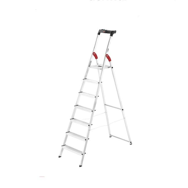Hailo Aluminium 7 Step Ladder (2 Step Sizes) - 0