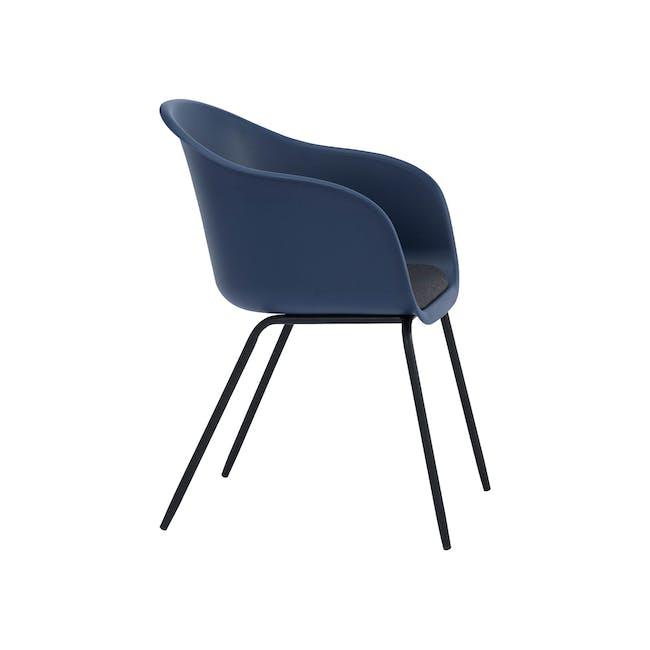 (As-is) Rayner Dining Armchair - Matt Black, Midnight Blue - 1 - 6