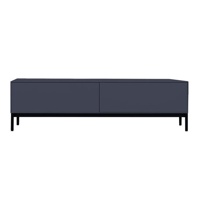 Lamont TV Console 1.2m in Grey with Dana Rectangular Coffee Table in Walnut - 7