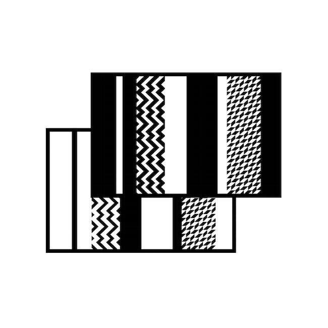 Katve Medium Reversible Mat 2.4m x 1.5m - Black/White - 2