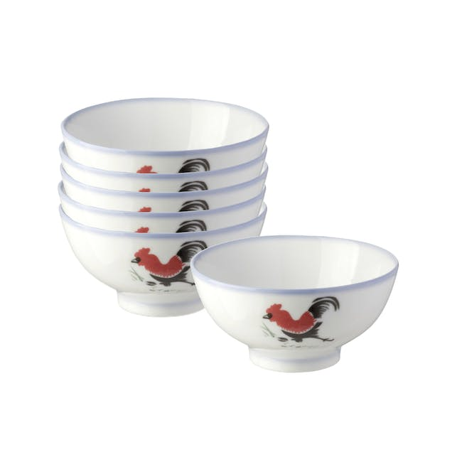 Rooster Small Bowl (Set of 6) - 0