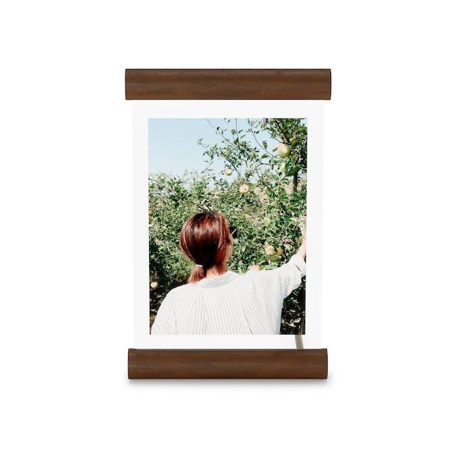 Scroll Photo Display 5 x 7 - Walnut - 2