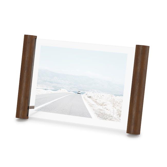 Scroll Photo Display 5 x 7 - Walnut - 1
