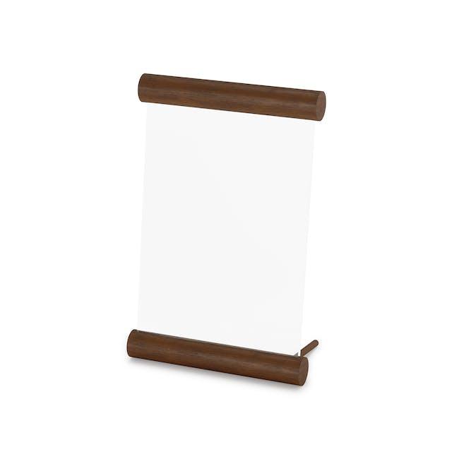 Scroll Photo Display 5 x 7 - Walnut - 3