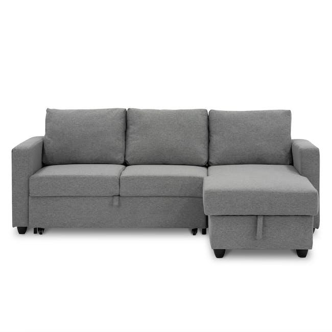 Mia L-Shaped Storage Sofa Bed - Dove Grey - 0