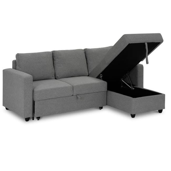 Mia L-Shaped Storage Sofa Bed - Dove Grey - 7