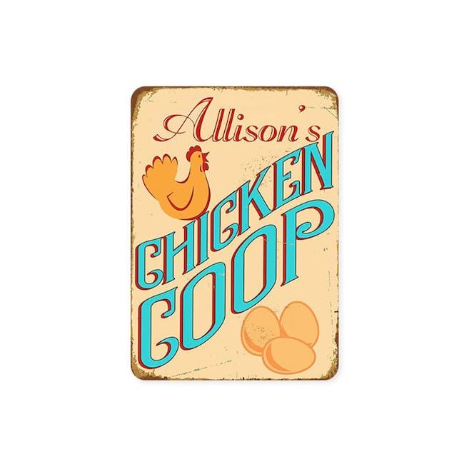 Tin Plate Wall Decor - Allison's Chicken Coop - 1