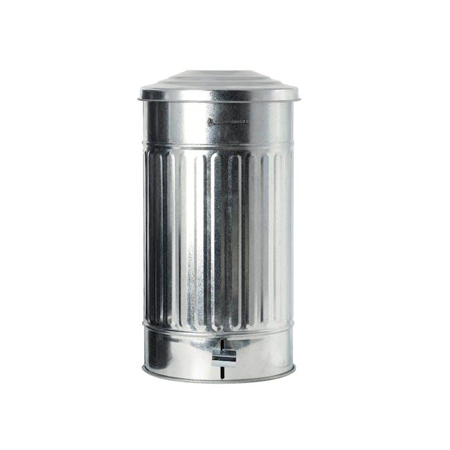 Matt Garbage Bin 24L - Zinc - 0