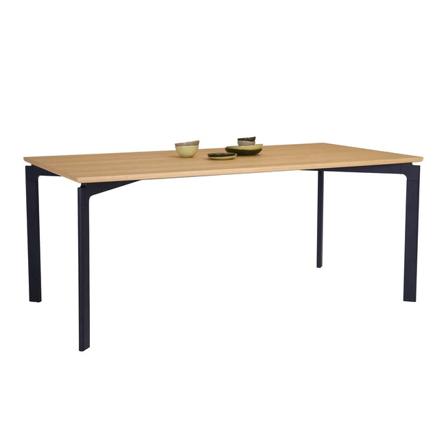 Navid Dining Table 1.8m- Oak, Black - 4