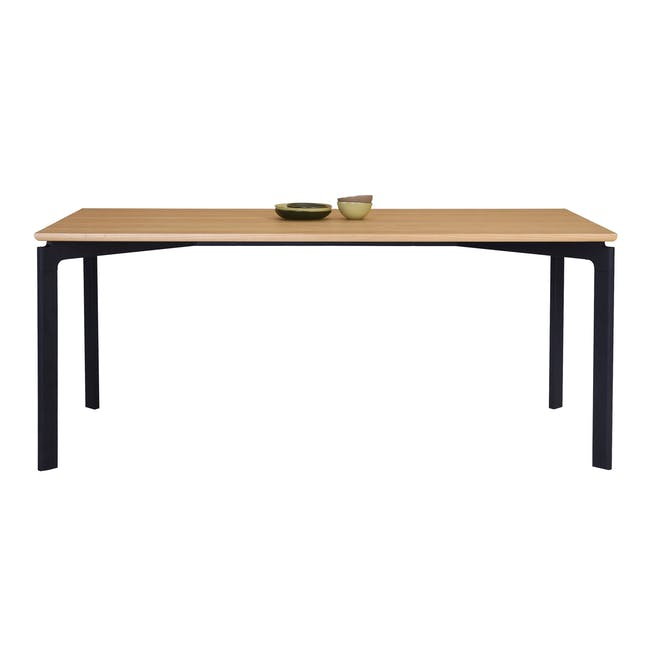 Navid Dining Table 1.8m- Oak, Black - 1
