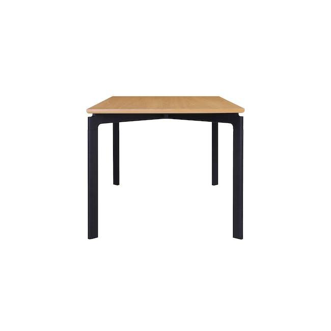 Navid Dining Table 1.8m- Oak, Black - 5