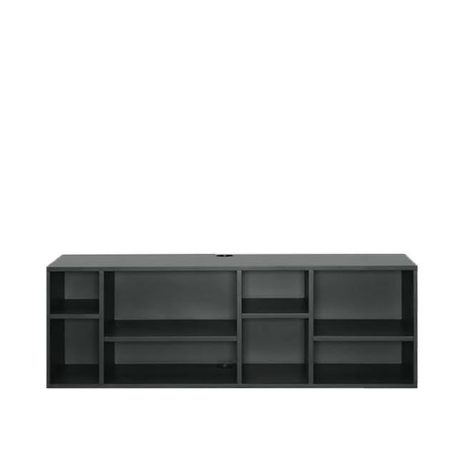 Liam Media Rack 1.2m - Charcoal Grey - 0