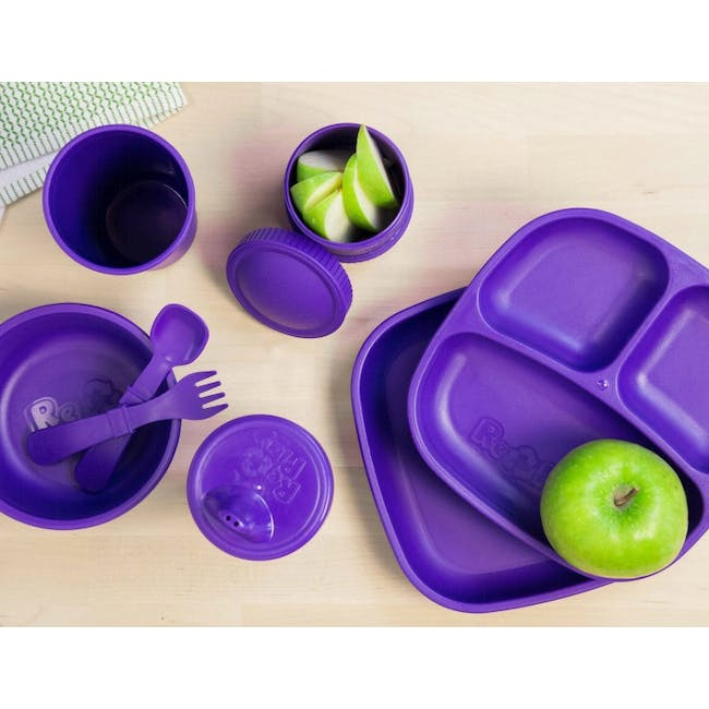 """Re-Play 7"""" Divided Plate - Amethyst - 1"""