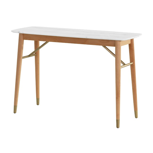 (As-is) Hagen Marble Console Table 1.2m - 1 - 0