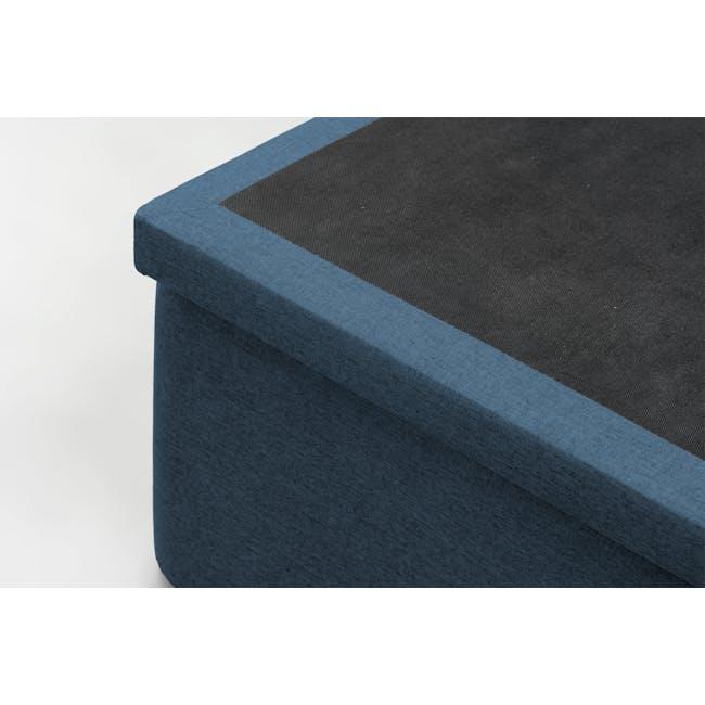 ESSENTIALS Super Single Headboard Storage Bed - Denim (Fabric) - 1