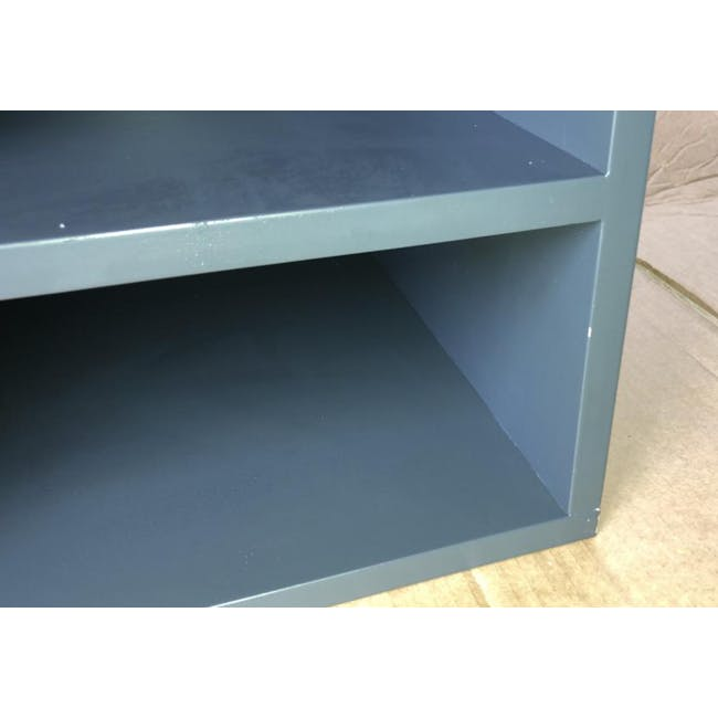 (As-is) Liam Media Rack 1.2m - Charcoal Grey - 4