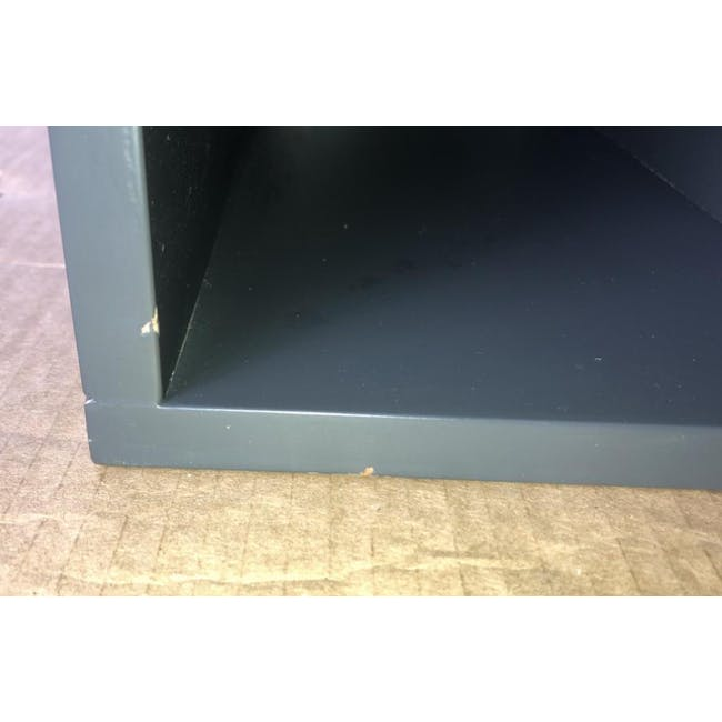 (As-is) Liam Media Rack 1.2m - Charcoal Grey - 19