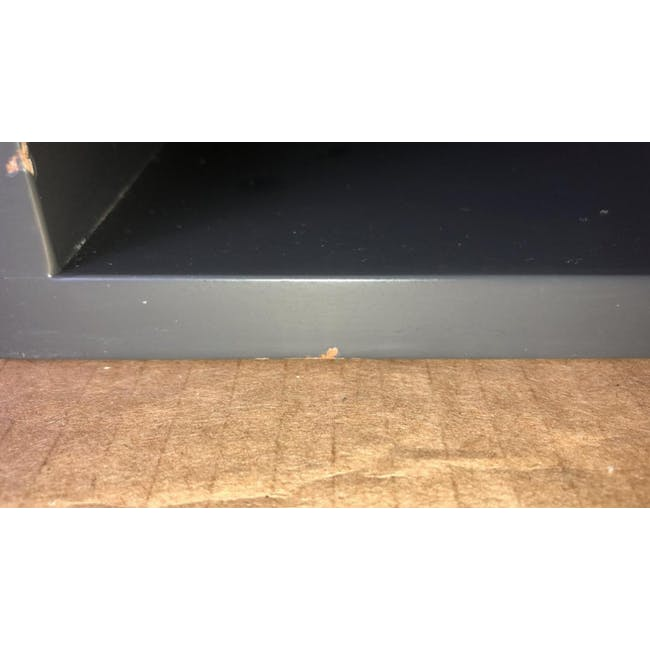 (As-is) Liam Media Rack 1.2m - Charcoal Grey - 17