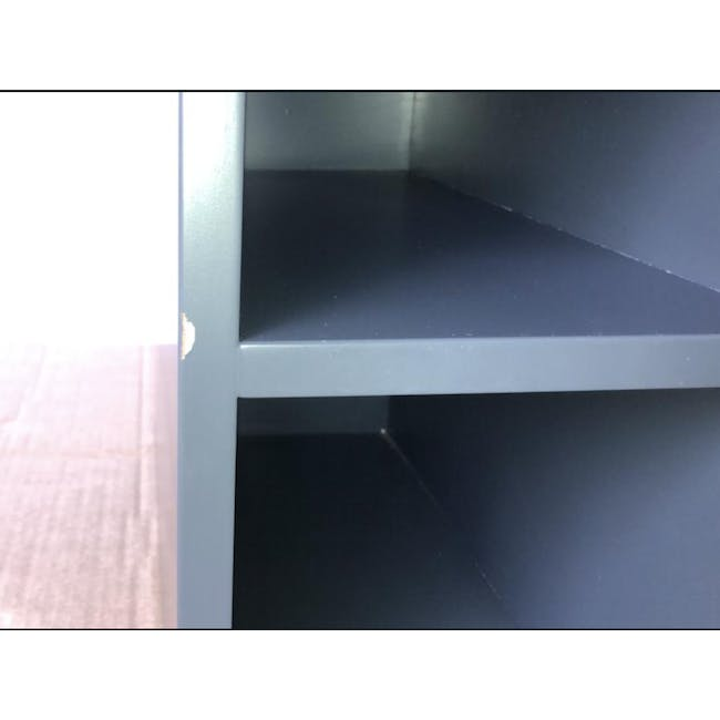(As-is) Liam Media Rack 1.2m - Charcoal Grey - 20