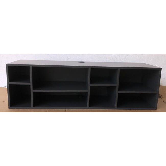 (As-is) Liam Media Rack 1.2m - Charcoal Grey - 1