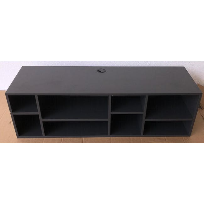 (As-is) Liam Media Rack 1.2m - Charcoal Grey - 2