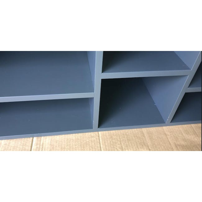 (As-is) Liam Media Rack 1.2m - Charcoal Grey - 18