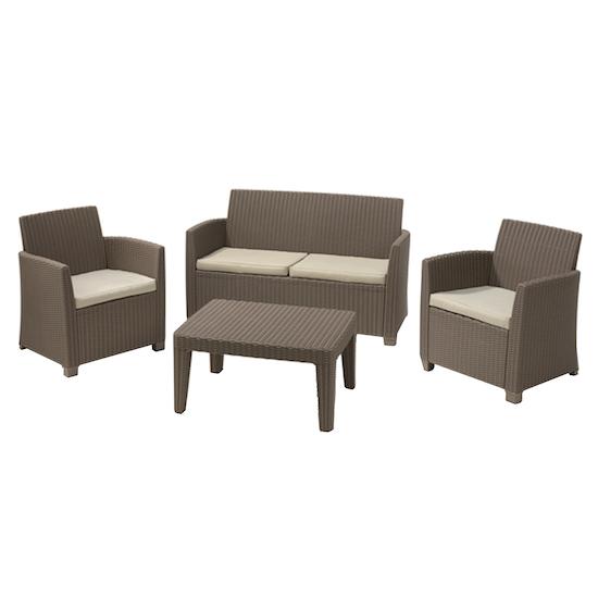 Allibert - Corona Lounge Set - Brown